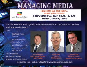 managing media seminar october 2019